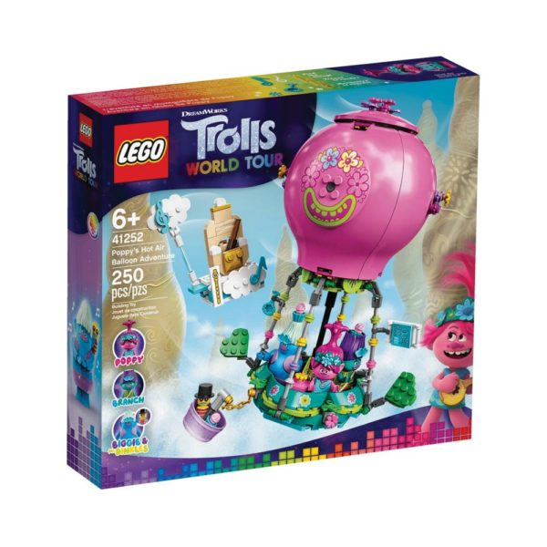 Brickly - 41252 Lego Trolls World Tour Poppy's Hot Air Balloon Adventure - Box Front