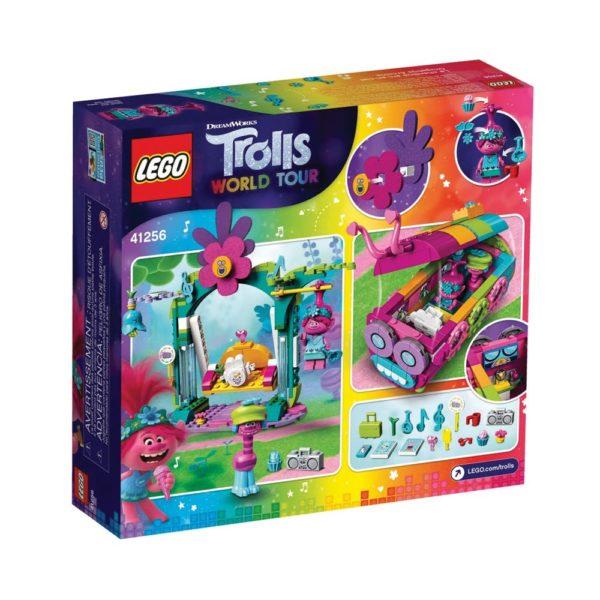 Brickly - 41256 Lego Trolls World Tour Rainbow Caterbus - Box Back