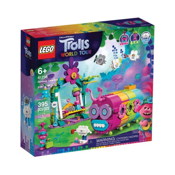 Brickly - 41256 Lego Trolls World Tour Rainbow Caterbus - Box Front