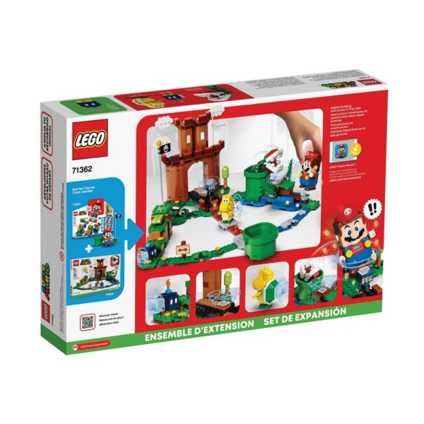 Brickly - 71362 Lego Super Mario Guarded Fortress Expansion Set - Box Back