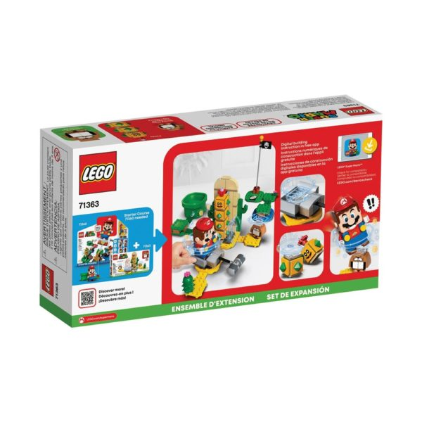 Brickly - 71363 Lego Super Mario Desert Pokey Expansion Set - Box Back