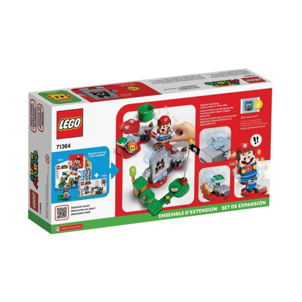 Brickly - 71364 Lego Super Mario Whomp's Lava Trouble Expansion Set - Box Back