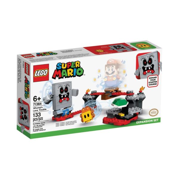 Brickly- 71364 Lego Super Mario Whomp's Lava Trouble Expansion Set - Box Front