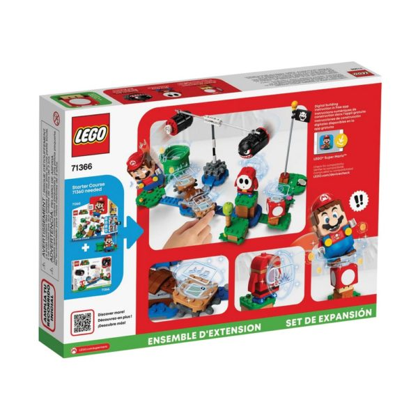 Brickly - 71366 Lego Super Mario Boomer Bill Barrage Expansion Set - Box Back