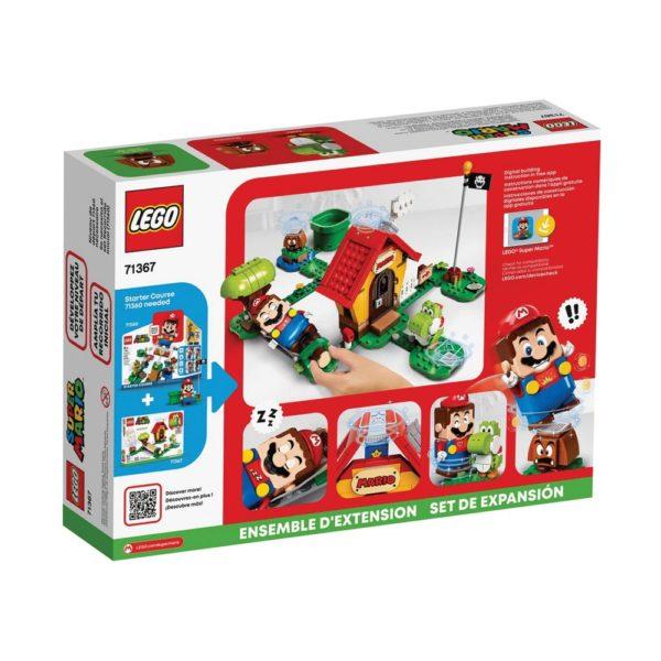 Brickly - 71367 Lego Super Mario Mario's House & Yoshi Expansion Set - Box Back