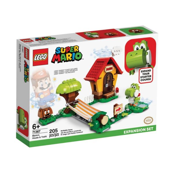 Brickly - 71367 Lego Super Mario Mario's House & Yoshi Expansion Set - Box Front