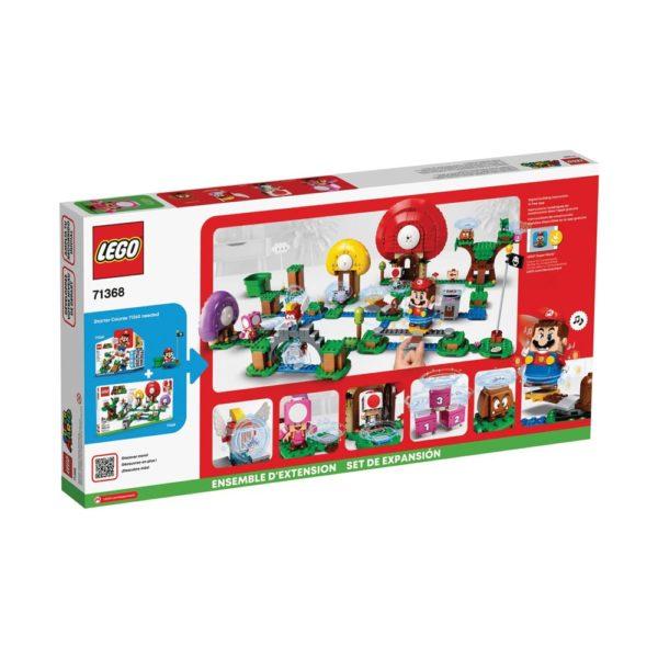 Brickly - 71368 Lego Super Mario Toad's Treasure Hunt Expansion Set - Box Back
