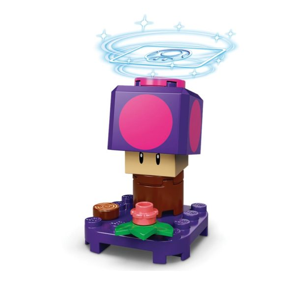 Brickly - 71386-7 Lego Super Mario Character Pack Series 2 - Poison Mushroom