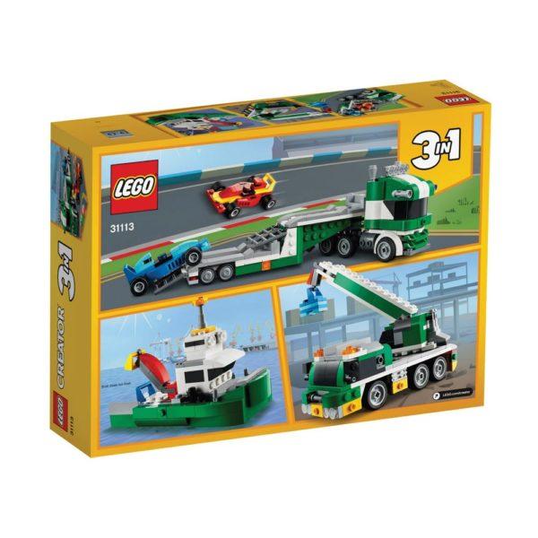 Brickly - 31113 Lego Creator Race Car Transporter - Box Back