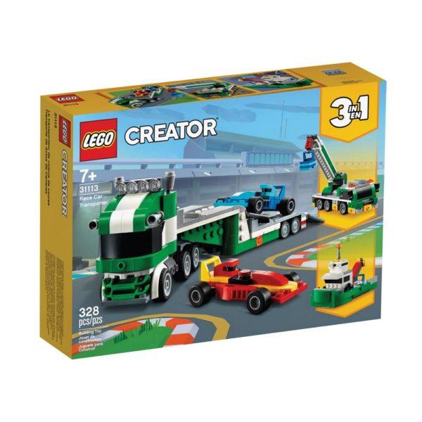 Brickly - 31113 Lego Creator Race Car Transporter - Box Front