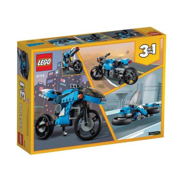 Brickly - 31114 Lego Creator Superbike - Box Back