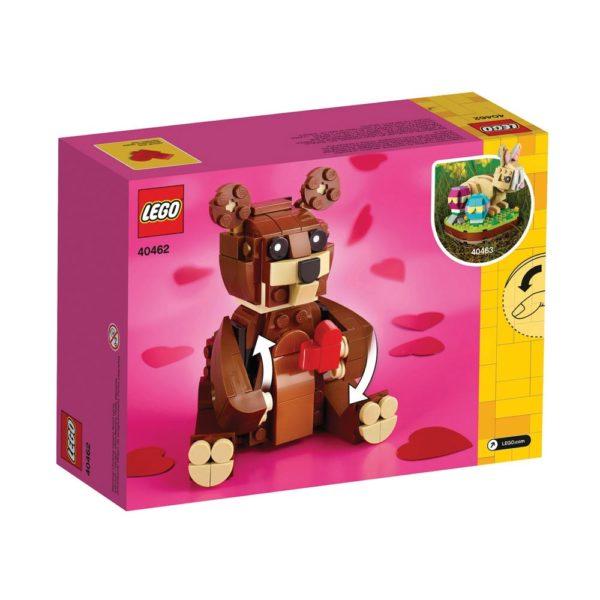 Brickly - 40462 Lego Valentine's Brown Bear - Box Back
