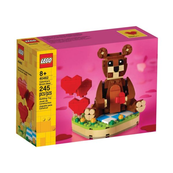 Brickly - 40462 Lego Valentine's Brown Bear - Box Front