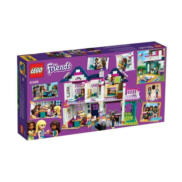Brickly - 41449 Lego Friends Andrea's Family House - Box Back
