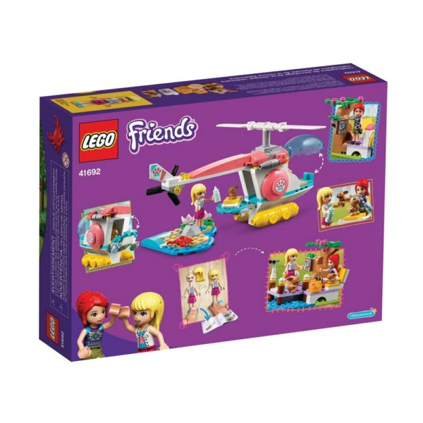 Brickly - 41692 Lego Friends Vet Clinic Rescue Helicopter - Box Back
