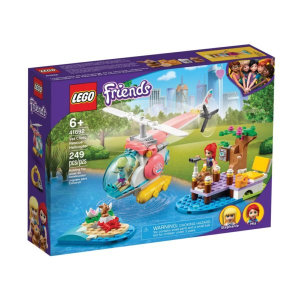Brickly - 41692 Lego Friends Vet Clinic Rescue Helicopter - Box Front