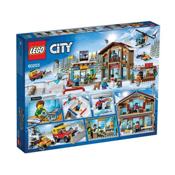 Brickly - 60203 Lego City Ski Resort - Box Back