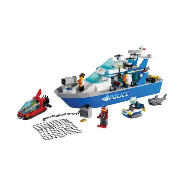 Brickly - 60277 Lego City Police Patrol Boat