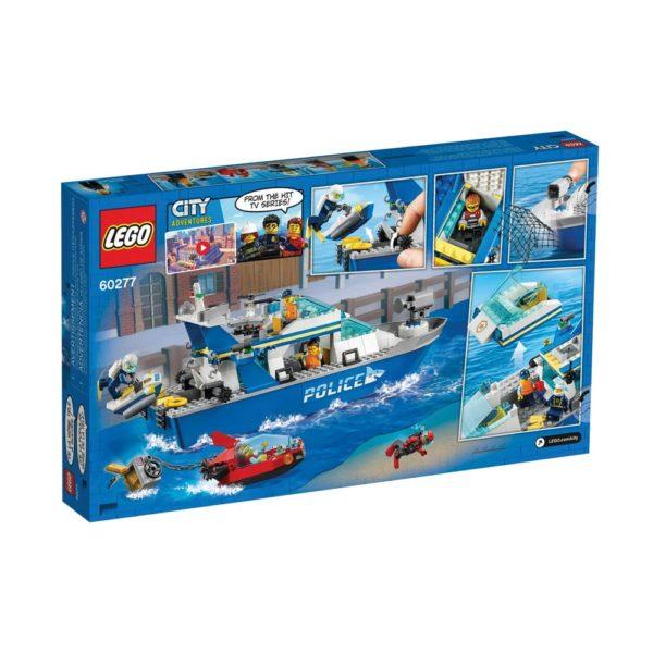 Brickly - 60277 Lego City Police Patrol Boat - Box Back