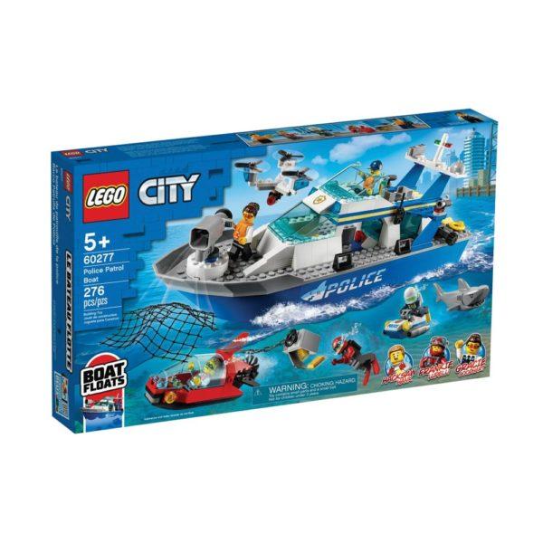 Brickly - 60277 Lego City Police Patrol Boat - Box Front