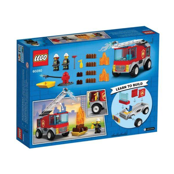 Brickly - 60280 Lego City Fire Ladder Truck - Box Back