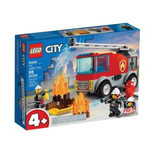 Brickly - 60280 Lego City Fire Ladder Truck - Box Front