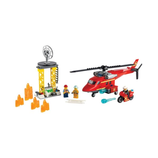 Brickly - 60281 Lego City Fire Rescue Helicopter
