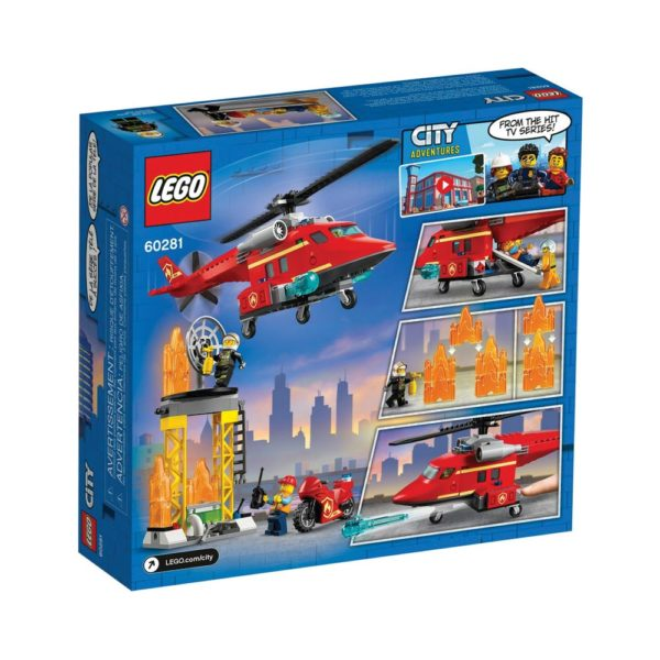Brickly - 60281 Lego City Fire Rescue Helicopter - Box Back