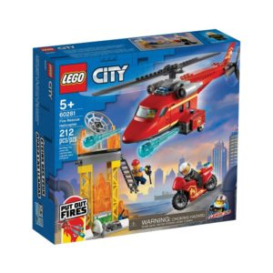 Brickly - 60281 Lego City Fire Rescue Helicopter - Box Front