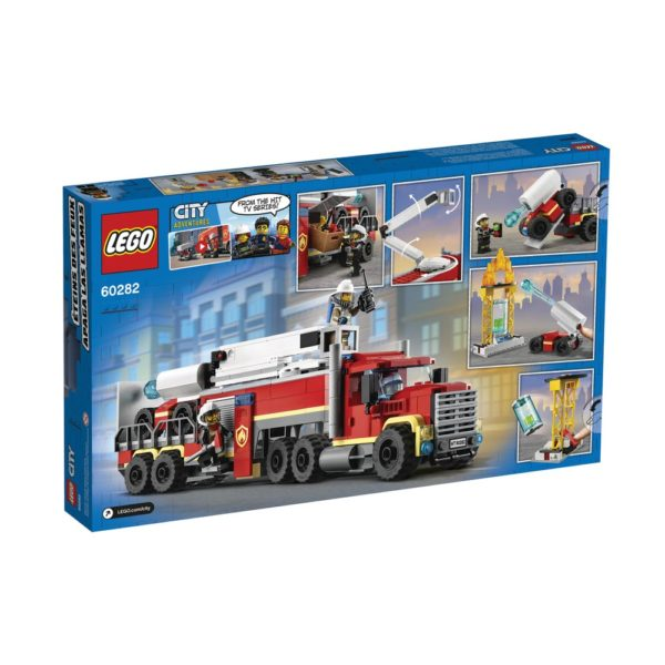Brickly - 60282 Lego City Fire Command Unit - Box Back