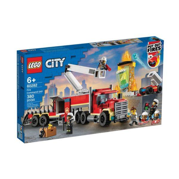Brickly - 60282 Lego City Fire Command Unit - Box Front