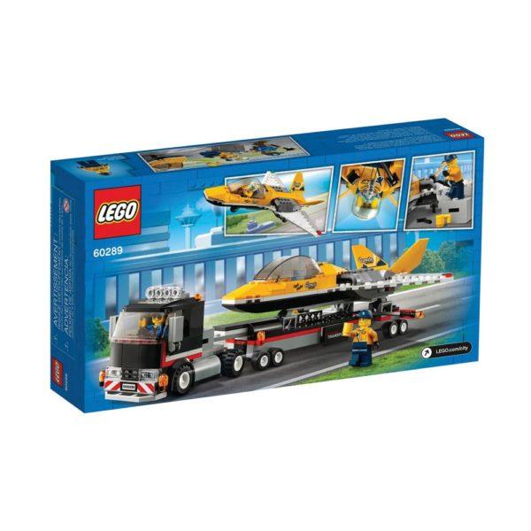 Brickly - 60289 Lego City Airshow Jet Transporter - Box Back