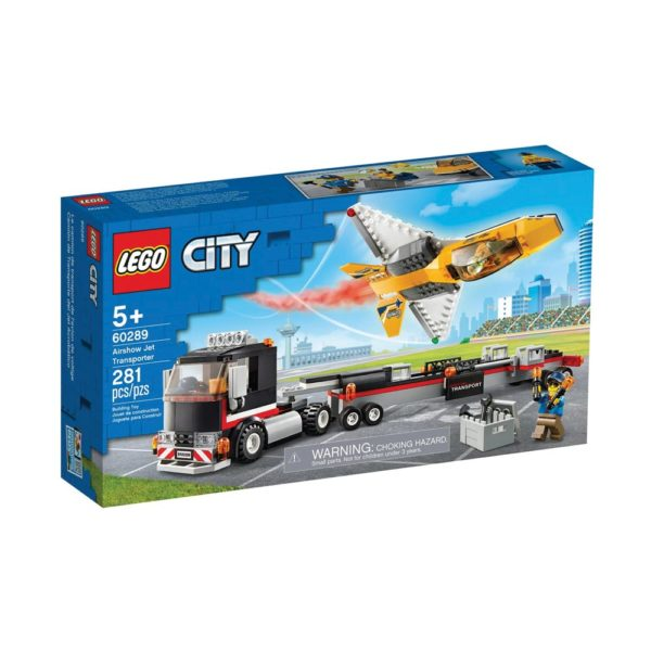 Brickly - 60289 Lego City Airshow Jet Transporter - Box Front