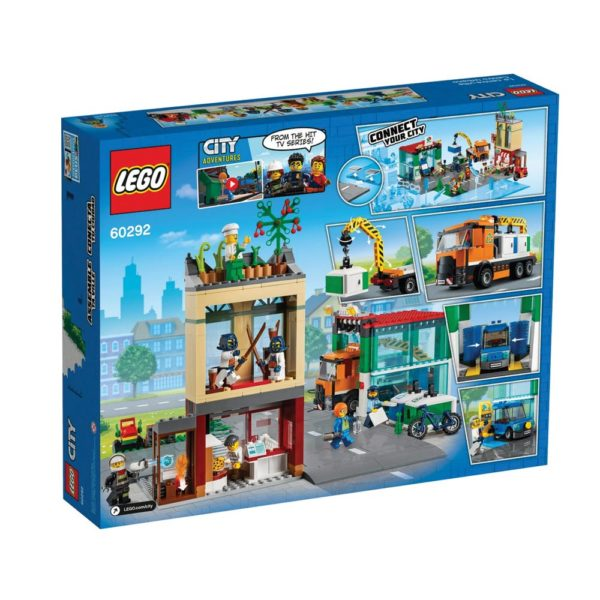 Brickly - 60292 Lego City Town Center - Box Back