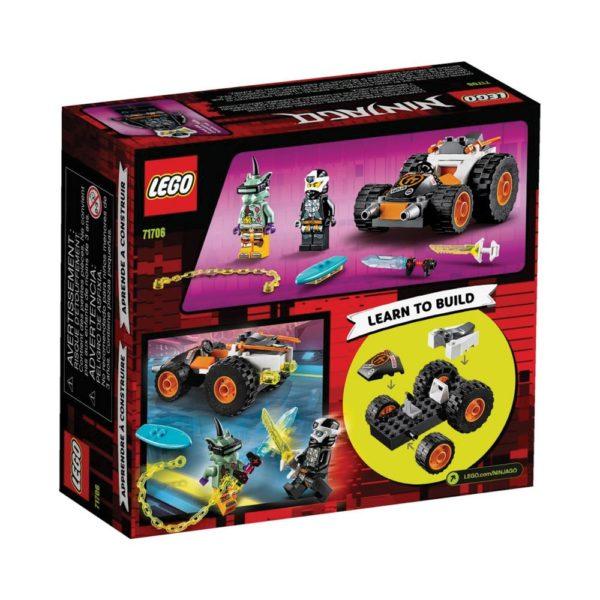 Brickly - 71706 Lego Ninjago Cole's Speeder Car - Box Back