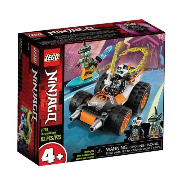 Brickly - 71706 Lego Ninjago Cole's Speeder Car - Box Front