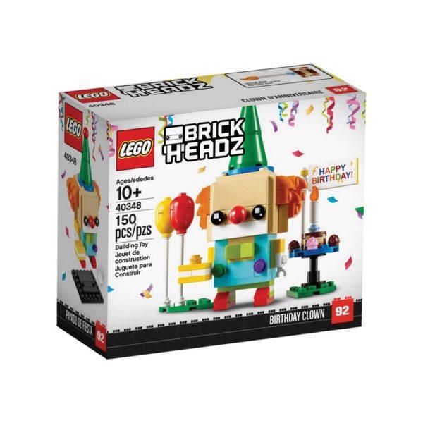 Brickly - 40348 Lego BrickHeadz Birthday Clown - Box Front