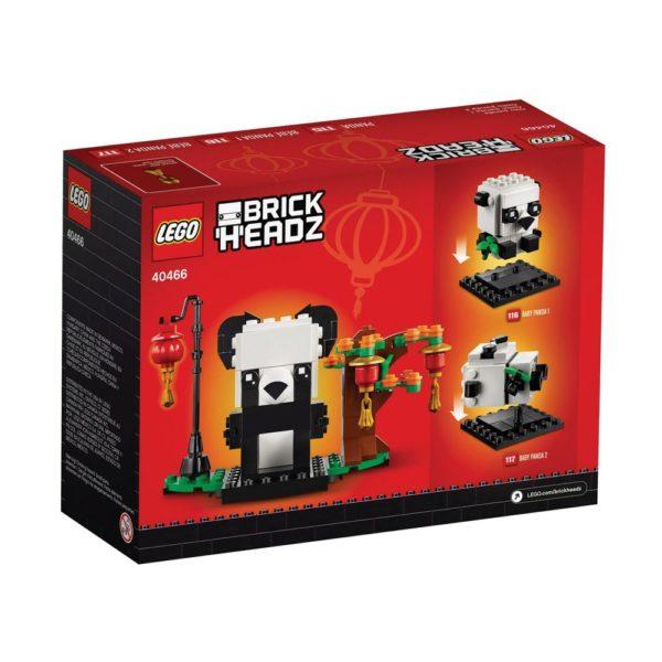 Brickly - 40466 Lego BrickHeadz Chinese New Year Pandas - Box Back