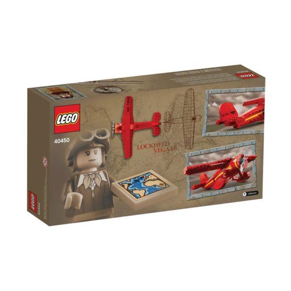 Brickly - 40450 Lego Amelia Earhart Tribute - Box Back