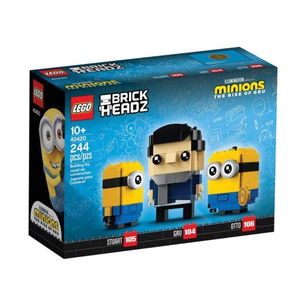 Brickly - 40420 Lego Brickheadz - The Rise of Gru - Gru, Stuart and Otto - Box Front