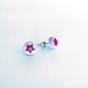 Brickly - Jewellery - Round Lego Tile Stud Earrings - 3D Stars