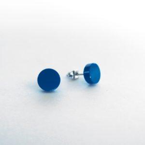 Brickly - Jewellery - Round Lego Tile Stud Earrings - Blue