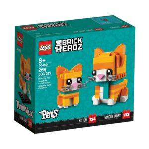 Brickly - 40480 Lego BrickHeadz Ginger Tabby - Box Front