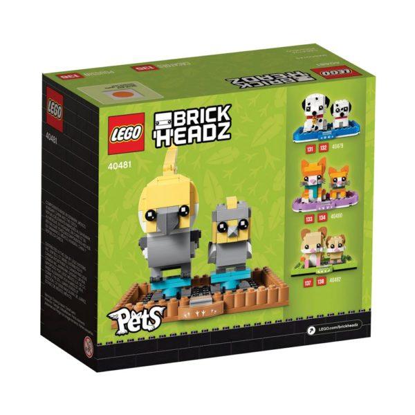 Brickly - 40481 Lego BrickHeadz Cockatiel - Box Back